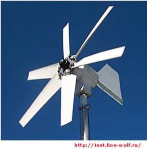 Горизонтальная шестилопастная ветроустановка