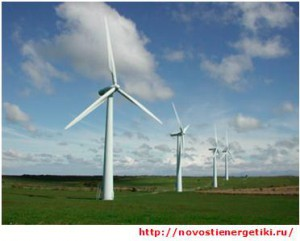 Ветроэлектростанции в поле