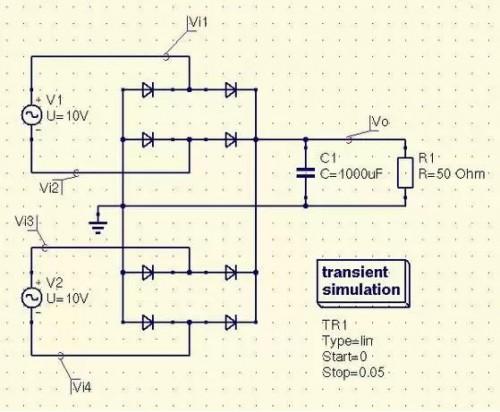 Диодный мост преобразования переменного тока в постоянный в шаговом двигателе ветрогенератора