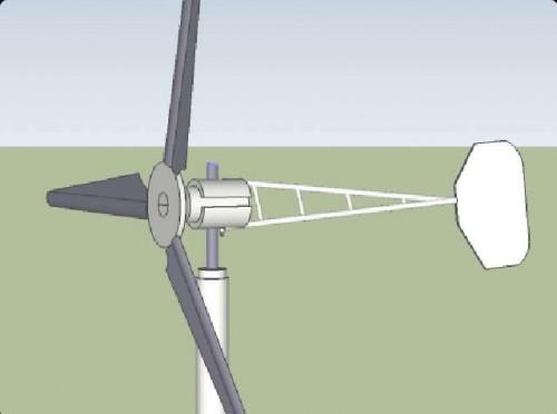 Ветрогенератор схематичный рисунок