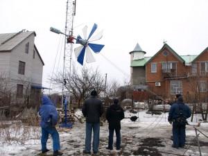 Монтаж ветрогенератора