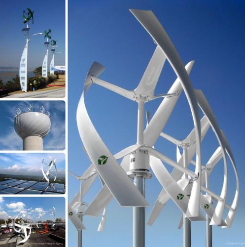 Различные вертикальные ветрогенераторы