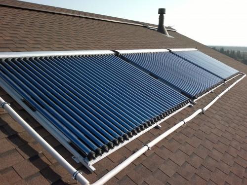 Тепловой солнечный коллектор вакуумного типа