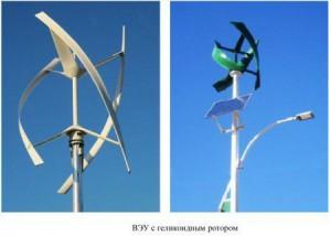Ветрогенераторы с геликоидным ротором