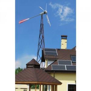 Горизонтальный ветряк для дома на мачте