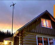 Вертикальный ветрогенератор на даче