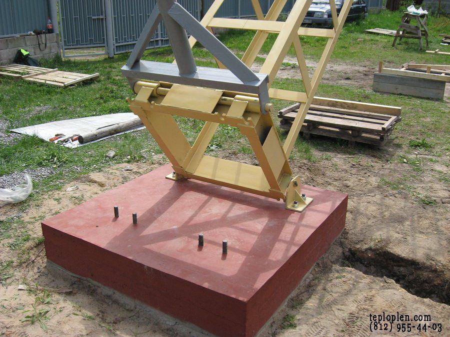 Фундамент для ветрогенератора