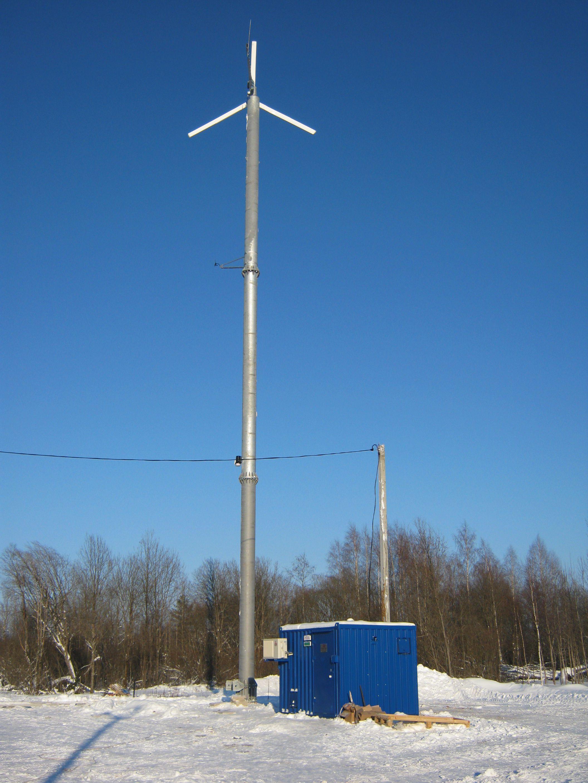 Ветрогенератор для дачи на мачте