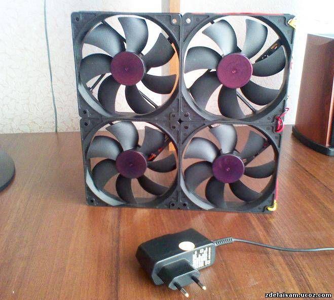 Ветрогенератор из вентилятора компьютера