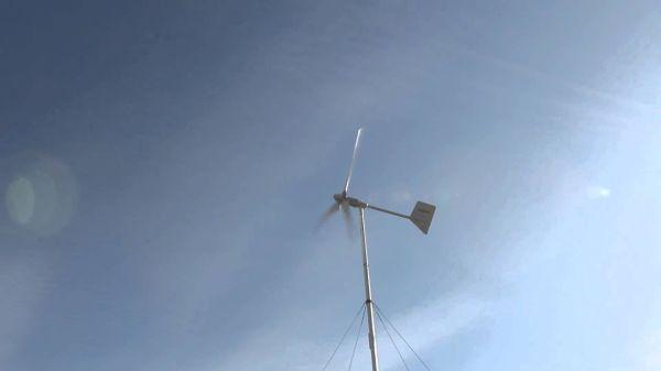 Ветрогенератор exmork на мачте